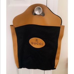 VINTAGE GUCCI rare travel tote leather AUTHENTIC